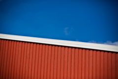 Geometrical shot of house wall on sky background Stock Images