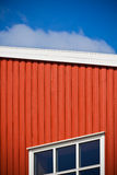 Geometrical shot of house wall on sky background Royalty Free Stock Image