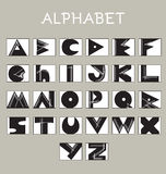 Geometrical Sketchy Alphabet Letters Stock Photo