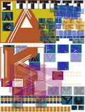 Geometrical Sketchy Alphabet Letters Royalty Free Stock Photo