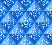Geometrical snowflake background Stock Photography