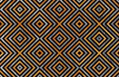 Geometrical srebro wzór Obrazy Stock