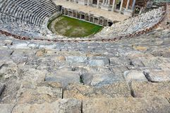 Geometrical Steps Of Hierapolis Ancient Theater Royalty Free Stock Photos