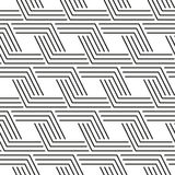 Geometrical stripped seamless pattern Royalty Free Stock Images