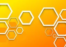 Geometrical sześciokąta tła szablon Obrazy Stock
