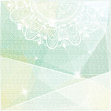 Geometrical tło z wzorami i mandala Fotografia Stock