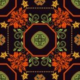 Geometrical tile pattern. Ornamental background Royalty Free Stock Photography