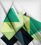 Geometrical vector abstract background. For infographics, business backgrounds, technology templates, business cards Stock Image