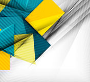 Geometrical vector abstract background. For infographics, business backgrounds, technology templates, business cards Royalty Free Stock Image