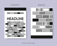 Geometrical vector brochure design Stock Photography