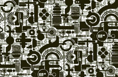 Geometrical wallpaper Royalty Free Stock Image