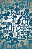 Geometrical wallpaper royalty free illustration