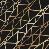 Geometrico astratto Capriate dell'oro royalty illustrazione gratis