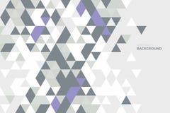 Geometrico astratto Fondo delle forme geometriche Reticolo di mosaico variopinto Retro priorità bassa del triangolo Immagine Stock