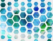 Geometrico astratto Forma di esagono Illustrazione di vettore illustrazione di stock