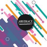Geometrico astratto Immagine variopinta Astrazione moderna di stile con composizione fatta di varie forme arrotondate a colori V illustrazione vettoriale