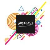 Geometrico astratto Immagine variopinta Astrazione moderna di stile con composizione fatta di varie forme arrotondate a colori V royalty illustrazione gratis