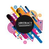Geometrico astratto Immagine variopinta Astrazione moderna di stile con composizione fatta di varie forme arrotondate a colori V illustrazione di stock