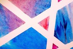 Geometrico astratto Linee bianche che tagliano i blocchetti del colorfull Fotografia Stock Libera da Diritti