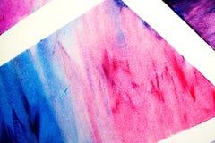 Geometrico astratto Linee bianche intorno ai blocchetti del colorfull Fotografie Stock