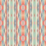 Geometrico astratto Reticolo senza giunte di vettore Illustrazione dell'ornamento con le bande verticali Immagini Stock