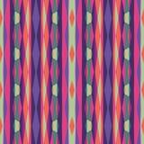 Geometrico astratto Reticolo senza giunte di vettore Illustrazione dell'ornamento con le bande verticali Fotografia Stock