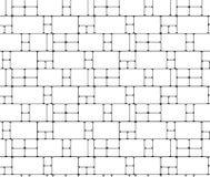 Geometrico astratto Struttura lineare di griglia da rectan Fotografia Stock