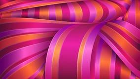 Geometrico astratto Tessuto brillante del raso Nastri viola e rossi illustrazione di stock
