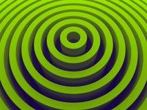 Geometrico radiale verde di alta risoluzione Fotografia Stock Libera da Diritti