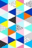 Geometrico senza cuciture di vettore, modello del abstrtact Memphis Style, 80s illustrazione vettoriale