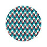 Geometrics figure l'icône de fond Photographie stock libre de droits
