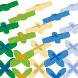 Geometrics flowers (vector) Stock Photography