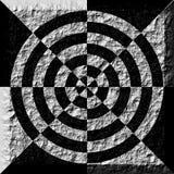 Geometrie in einem Keramikziegel Lizenzfreies Stockbild