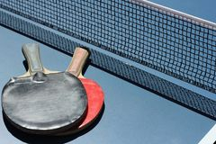 Geometrie im Sport Geometrische Zahlen im Tischtennis Stockfotos