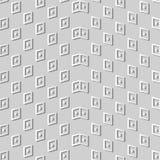 Geometrie-Kontrolle Dot Wave Frame Kunst des Weißbuches 3D stock abbildung