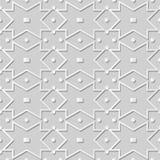 Geometrie-Kreuz-Quadrat-Kontrolle Dot Frame Line Kunst des Weißbuches 3D lizenzfreie abbildung