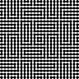 Geometrie-Labyrinthmuster des Vektors modernes abstraktes nahtloser geometrischer Schwarzweiss-Hintergrund Stockfotos