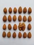 Geometrie nuts de puzzle d'amande de nourriture Photographie stock