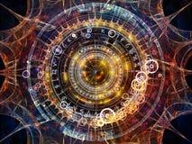 Geometrie von Astrologie stock abbildung