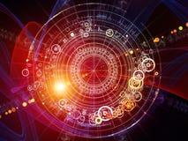 Geometrie von Astrologie lizenzfreie abbildung