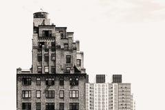 Geometrie von Häusern in New York, NY Lizenzfreie Stockfotografie