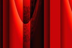 Geometrieanmut - im Rot. Stockfotografie