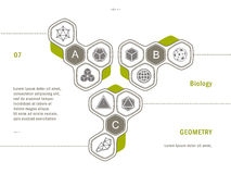Geometrieikone Websiteschablone vektor abbildung