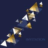 Geometriemotiv Art- Decoin der Luxusvektorillustration Stockfoto