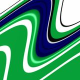 Playful blue green white shapes, graphics, abstract background Royalty Free Stock Photo