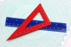 Geometriestudienhilfsmittel Stockbilder