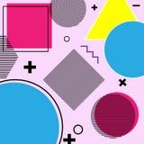 Geometrifärg och symbol fotografering för bildbyråer