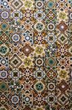 Geometrii płytki w ścianie zdjęcia royalty free