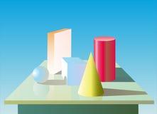Geometrii postacie Zdjęcia Stock