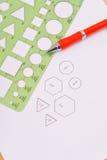 geometrii stencil używać fotografia stock